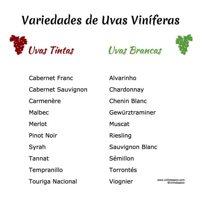 Uvas que fazem vinho vinhobasico