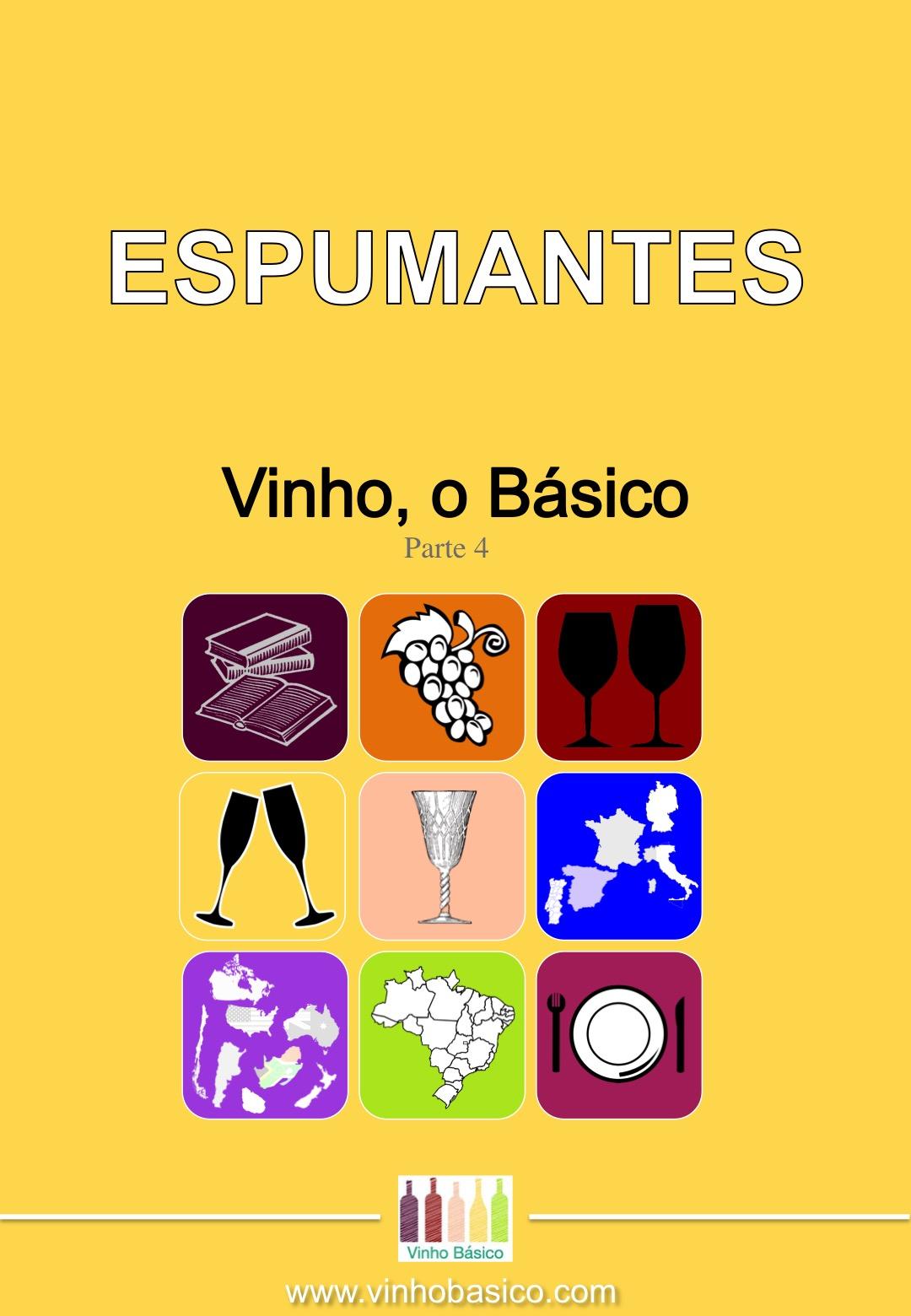 Capa Ebook Vinho o Basico 4 ESPUMANTES