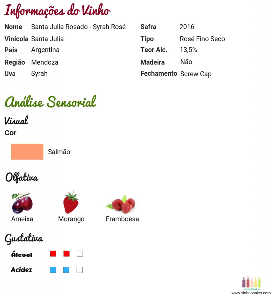 Santa Julia Rosé Syrah vinhobasico